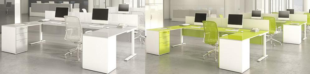 Mesas de oficina con estructura metálica - Madrid